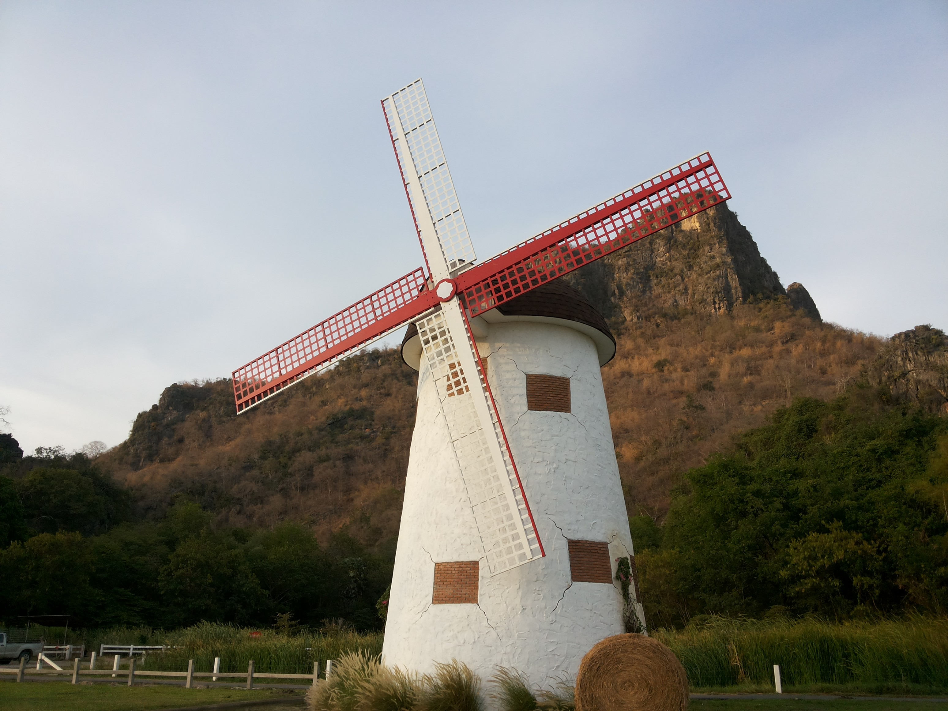 windmill at swiss sheep farm